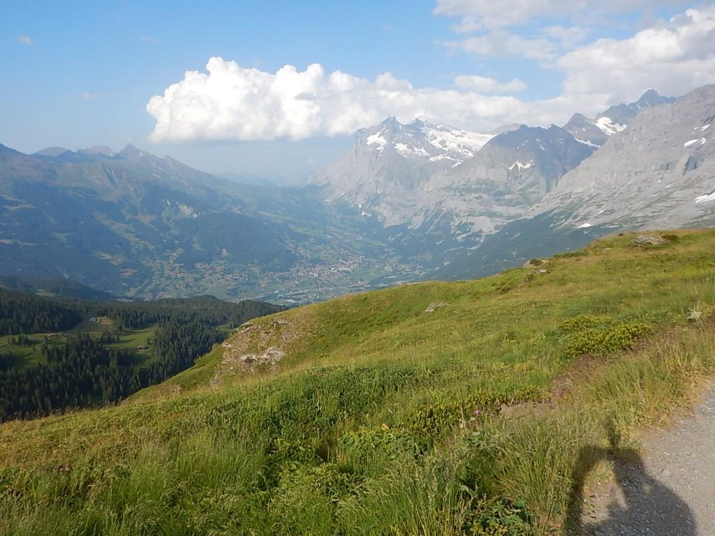 Super Überblick über die Strecke. Auf der Grossen Scheidegg im Hintergrund, waren wir heute auch schon!