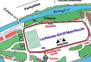 Laufstrecke 24h Lauf Brugg