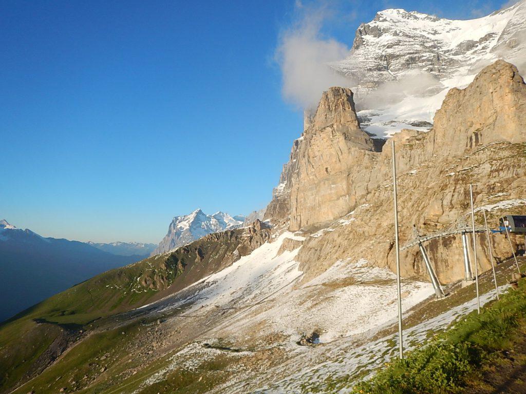 Blick auf den Eiger Trail
